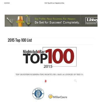 2015 Top 100 List - Nightclub & Bar